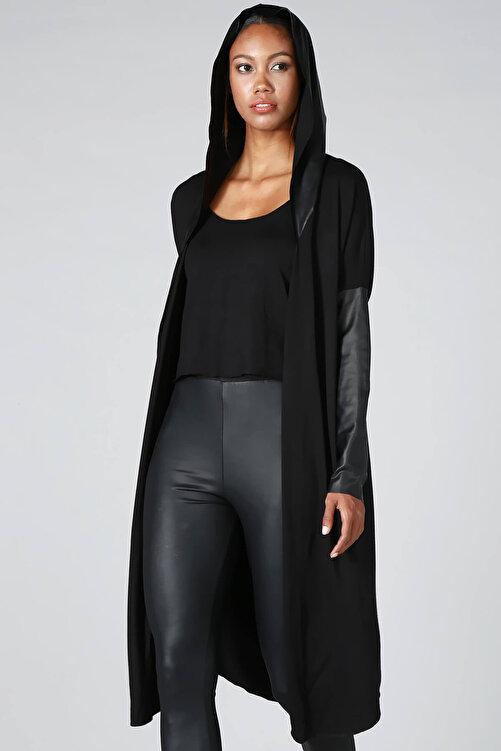 Quincey Kadın Siyah Triko Hırka HK2103 2
