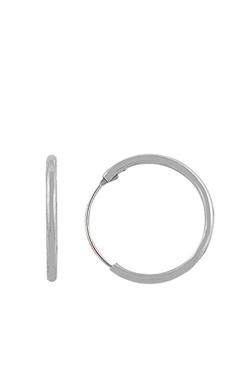 Söğütlü Silver Kadın 925 Ayar Gümüş Mini Rodyumlu Halka Küpe SGTL7310 1