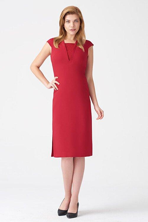 Naramaxx Kadın Koyu Kırmızı Elbise 17K11112Y829 1