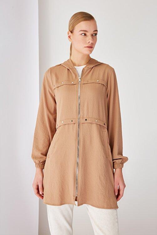 Trendyol Modest Taş Fermuarlı Tesettür Ceket TCTSS21CE0378 2