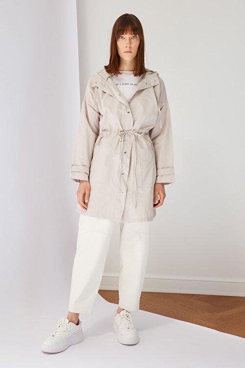 Trendyol Modest Taş Kapüşonlu Tesettür Ceket TCTSS21CE0415 2