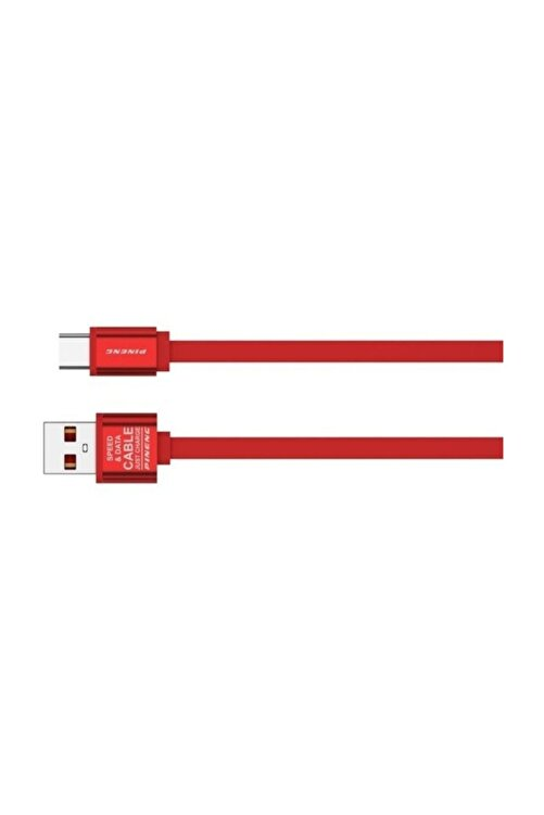 Pineng Data Şarj Kablosu Pn-311 Yüksek Hızlı Type C '' Iphone, X, Xr, Xs,xs Max '' 1 Metre - Kırmızı 1