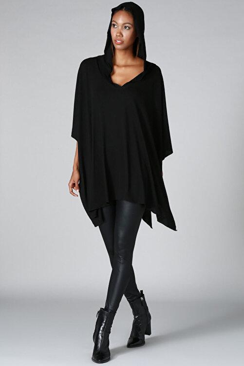 Quincey Kadın Siyah Panço HK2120 1