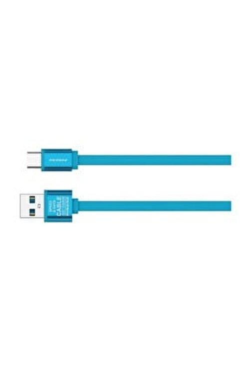 Pineng PN-311 Yüksek Hızlı Type C 1 Metre Mavi Data Şarj Kablosu 1