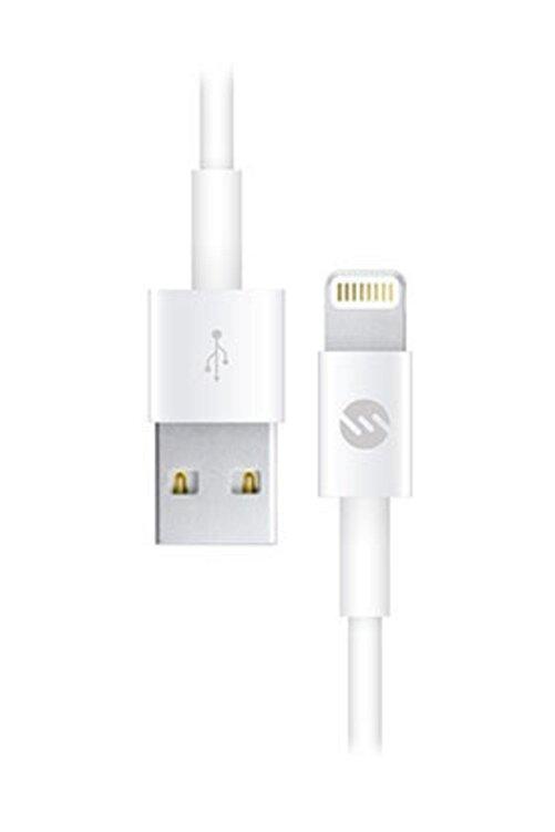 S-LINK 2A iPhone Lightning Usb Data Şarj Kablosu Beyaz 1