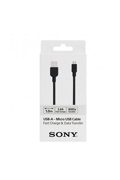Sony CP-AB100 100CM Micro Usb 2.4A Hızlı Şarj Ve Data Kablosu Siyah 1
