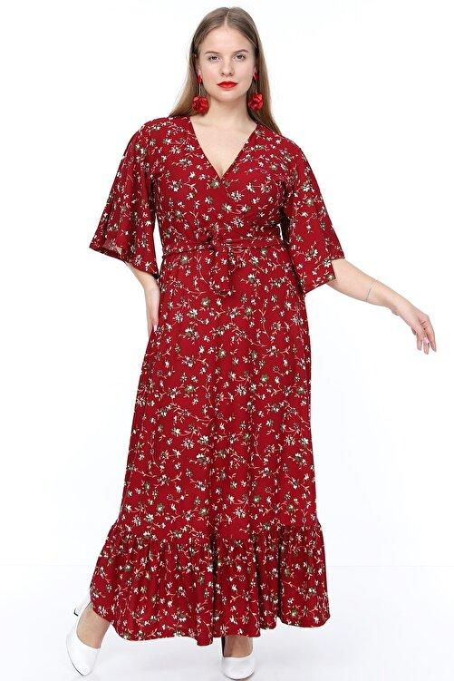 MACFLY Kruvaze Yaka Elbise 1