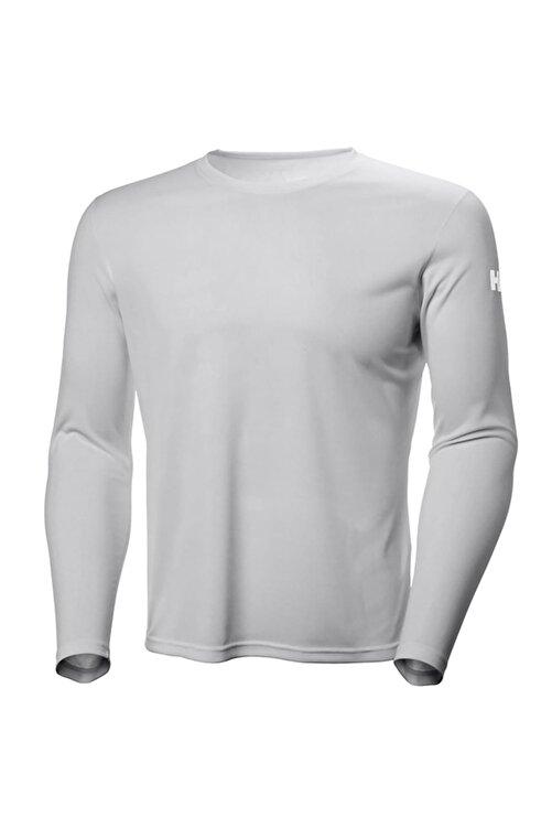 Helly Hansen Tech Crew Uzun Kollu T Shirt Light Grey 1