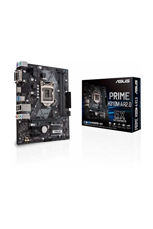 ASUS PRIME H310M-A R2.0 Intel H310 1151 8.Nesil Soket 2666MHz DDR4 USB 3.1 DVI&HDMI Anakart 1