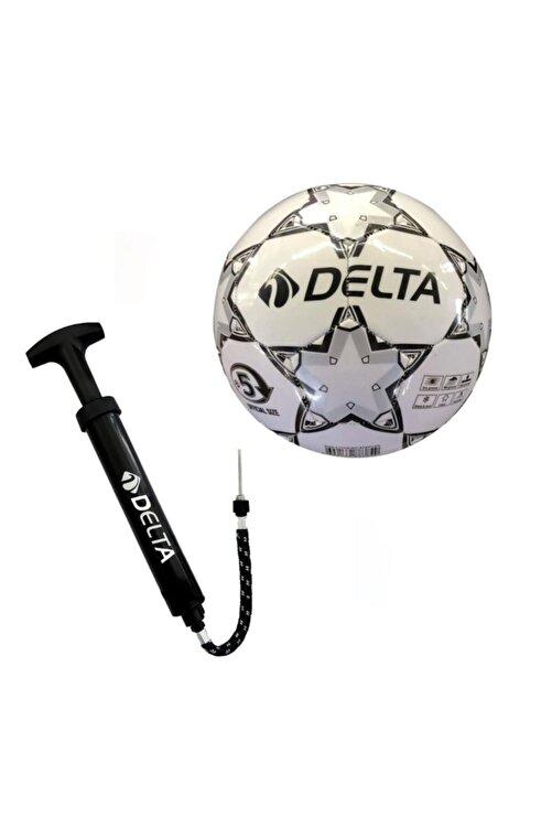 Delta Stapler 5 Numara Dikişli Futbol Topu + Top Pompası 1