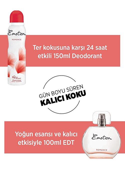 Emotion Kadın Parfüm Seti Romance Edt 50 ml ve 150 ml Deodorant 1