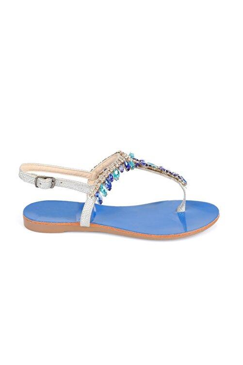 Oblavion Rio Aqua Blue Taşlı Sandalet 2