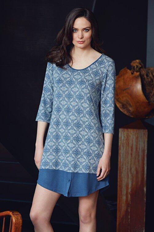 Penyemood Kadın Indigo Elbise 8041 1
