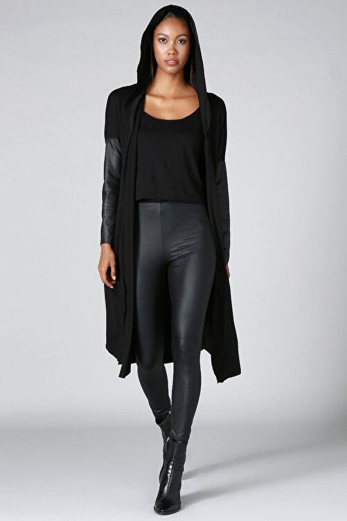 Quincey Kadın Siyah Triko Hırka HK2103 1