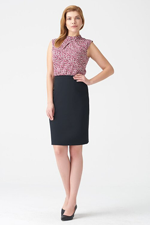 Naramaxx Kadın Desenli Elbise 17K11112Y828 1