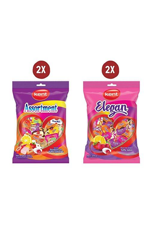 KENT Şeker 375 gr 4'lü Paket (Assortment&Elegan) 1