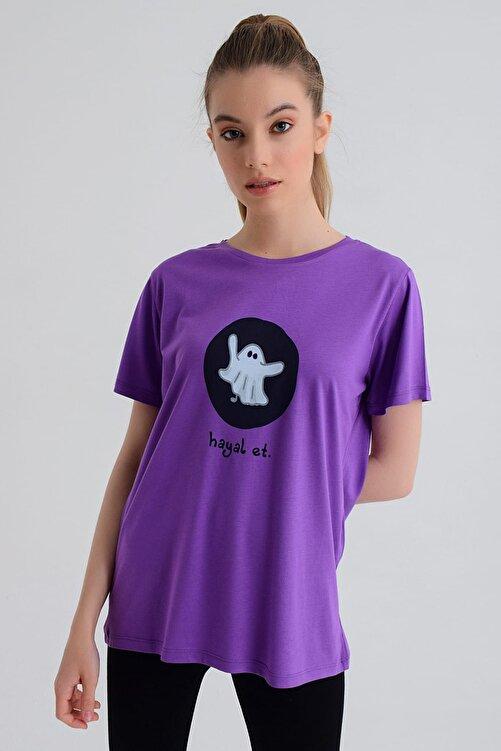 b-fit Kadın T-shirt - Wormie Hayalet - WRMMHYT 1