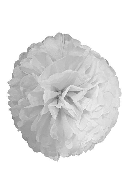 Parti dolabı 1 Adet Beyaz Ponpon Gramafon Çiçek Kağıt Doğum Günü Parti Süsü 1