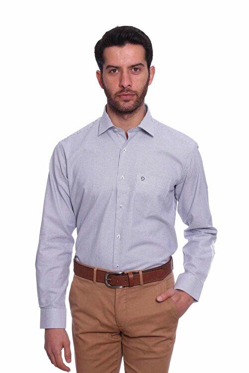 Diandor Uzun Kollu Erkek Gömlek Gri 1912017 1
