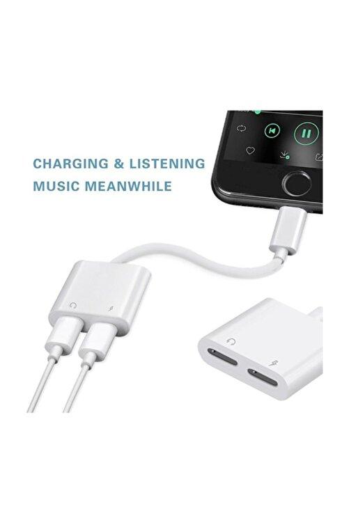 Coverzone Iphone Lightning To Lightning Şarj Kulaklık Çoklayıcı Konuşma Destekli Ent 2