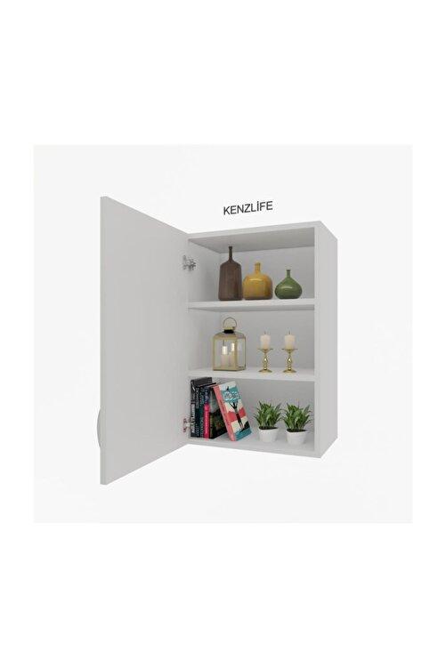 Kenzlife Mutfak Dolabı Irem  060.060.32 Byz 2 Raflı Kapaklı  Ofis Banyo Kiler Evrak Kitaplık 1