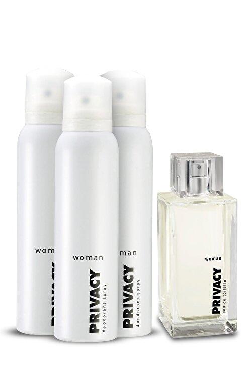 Privacy Edt Kadın Parfümü 100 ml + 3'Lü Deodorant 150 ml 507646-2 2