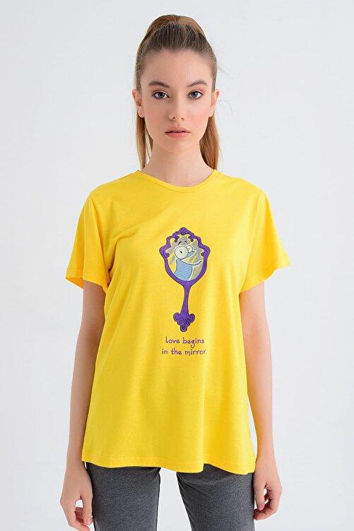 b-fit Kadın T-shirt - Wormie Ayna - WRMYN 1
