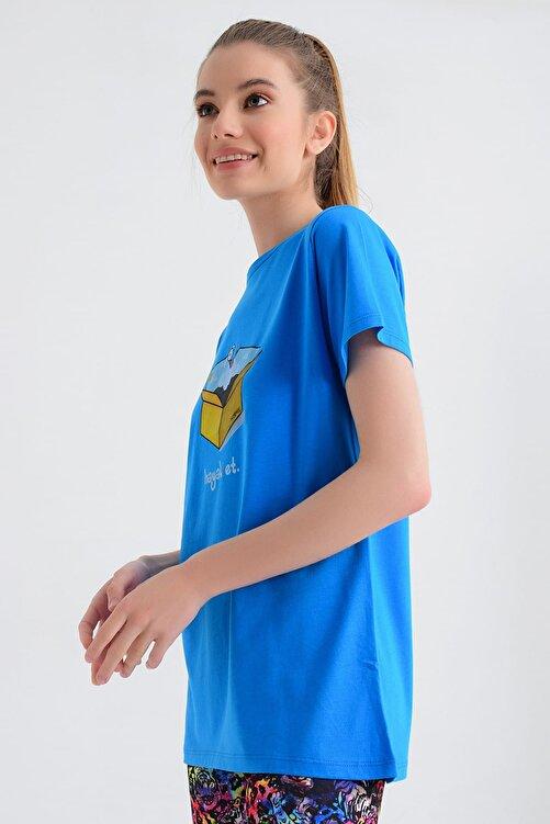 b-fit Kadın T-shirt - Wormie Hayalet Kutu - WRMHTK 2