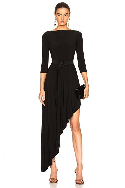 By Umut Design Kadın Asimetrik Kesim İpek Jarse Elbise 248902 1