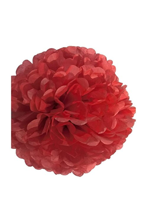 Parti dolabı 1 Adet Kırmızı Ponpon Gramafon Çiçek Kağıt Doğum Günü Parti Süsü 1