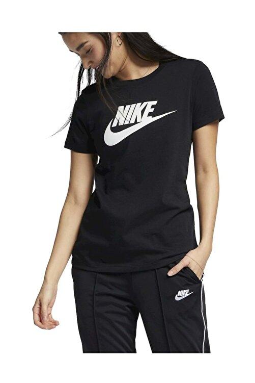 Nike W Nsw Tee Essntl Icon Futura Kadın T-shirt Siyah 1