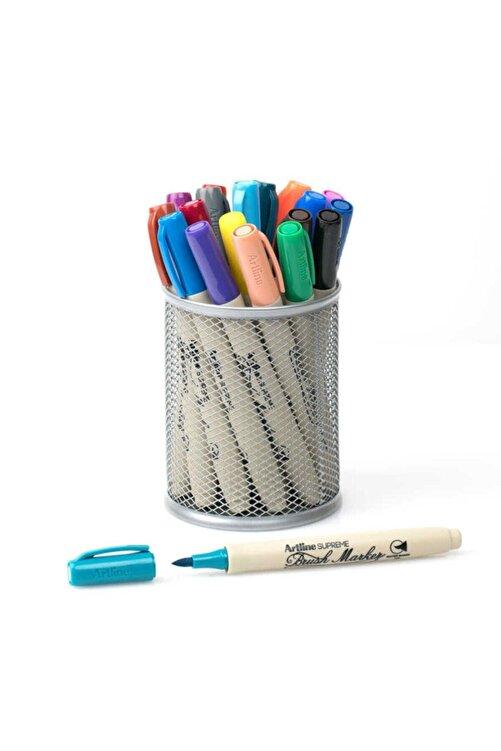 artline Supreme Brush Marker Fırça Uçlu Kalem 20 Renk Kalemlik Hediyeli Set 1