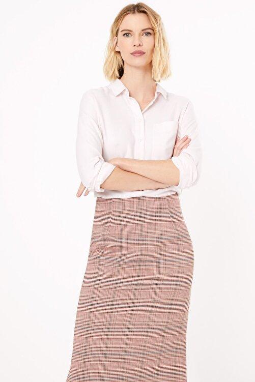 Marks & Spencer Kadın Pembe Yumuşak Dokulu Relaxed Fit Gömlek T43004481 1