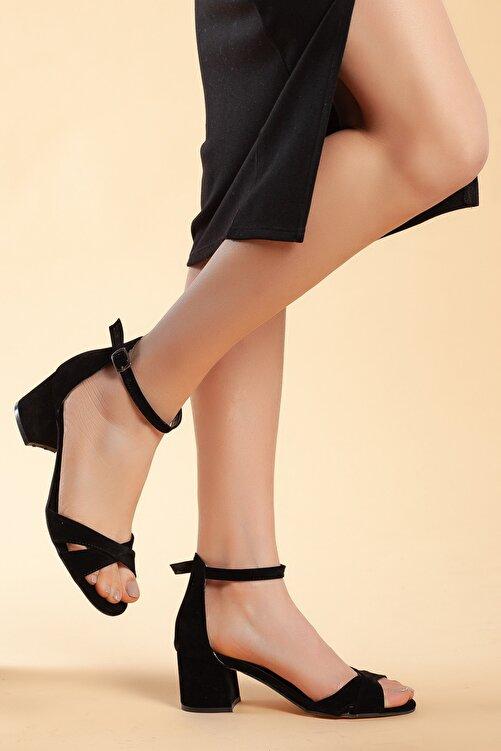Daxtors Siyah-Süet Kadın Ayakkabı DXTRFLRN204 2
