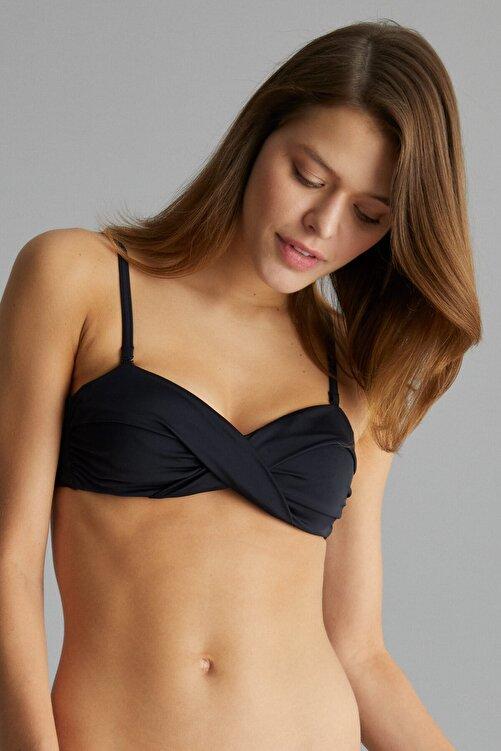 Penti Siyah Basic Twist Bikini Üstü 2
