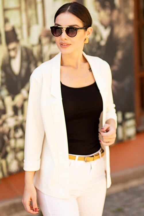 armonika Kadın Beyaz Duble Kol Ceket ARM-18Y001173 1