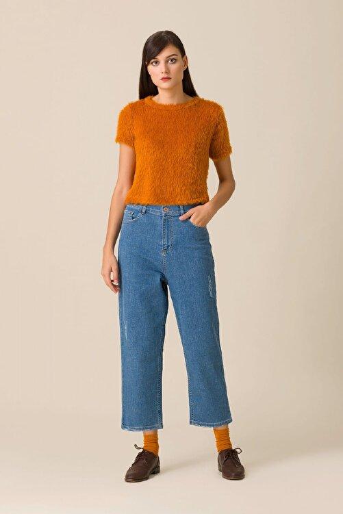 Kuaybe Gider Kadın Mavi Pantolon d4009 1