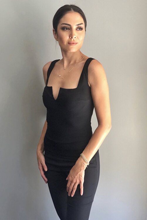 LOVEMETOO Kadın Siyah Jasmine  Bluz 18Y43 2