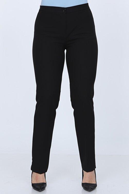 Gül Moda Kemerli Büyük Beden Likralı Pantolon Siyah 1