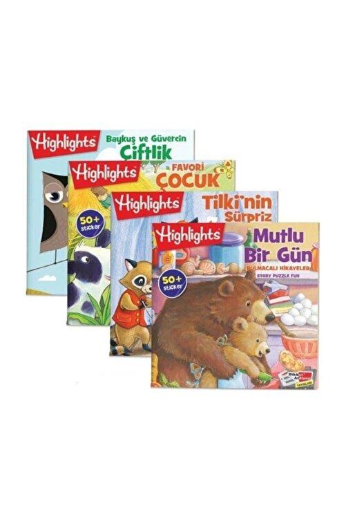 Dikkat Atölyesi Yayınları Sticker Bulmacalı Hikayeler 4'lü Set 1