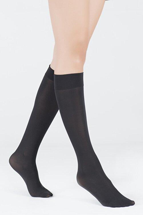Katia&Bony Kadın Siyah Dizaltı Opak 40 Denye Basic Çorap 1