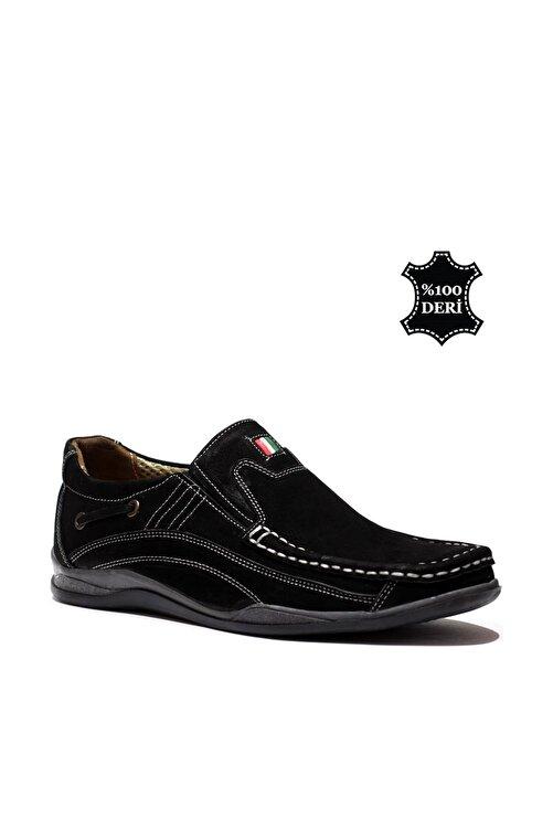 maximoda Hakiki Deri Siyah Erkek Casual Ayakkabı PRA-148166-014648 1