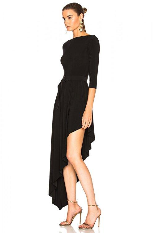 By Umut Design Kadın Asimetrik Kesim İpek Jarse Elbise 248902 2