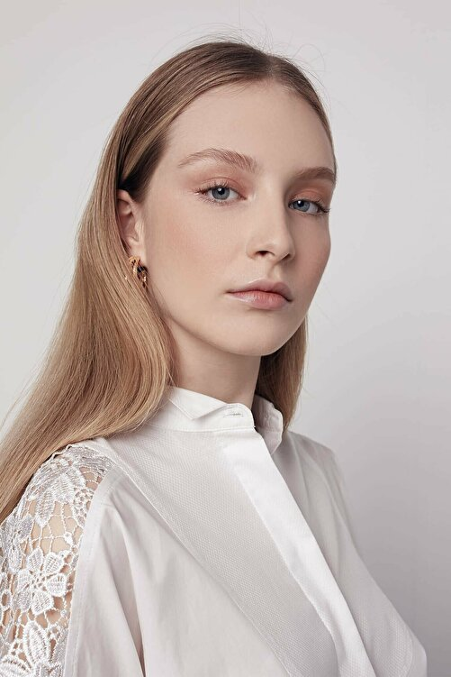İpekyol Kadın Beyaz Güpür Mix Tunik IS1200016036002 2