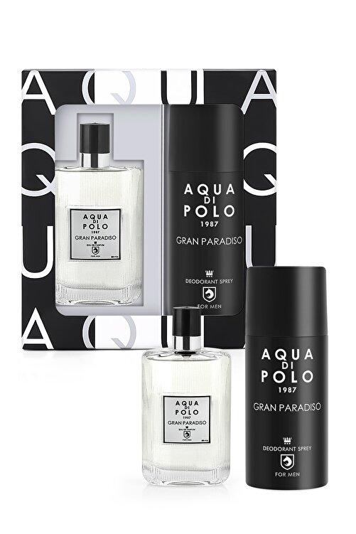 Aqua Di Polo 1987 Aynı Butikte 2. Ürün 1 TL Gran Paradiso Edp 50 ml  Erkek Parfüm-Sprey Deodorant Set APPXGR03EPD 1