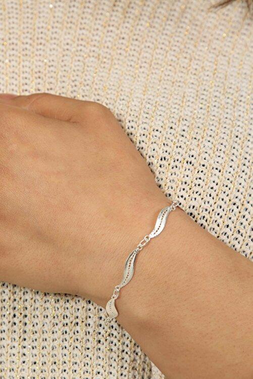 Midyat Gümüş Dünyası Kadın İnce Model Telkari Gümüş Bileklik 2020143 2