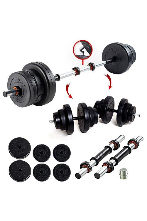 ECG 22 KG Multifonksiyonel Halter Seti ve Dambıl Seti Ağırlık Fitness Seti 1