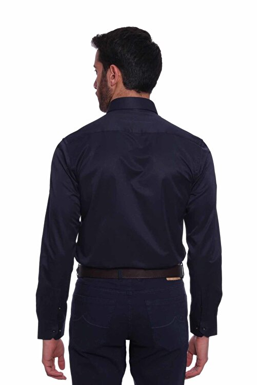 Diandor Uzun Kollu Erkek Gömlek Lacivert 1912021 2