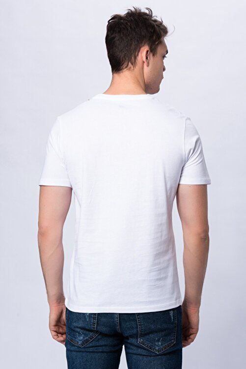 New Balance Erkek T-shirt - 3 Brush TEE - V-MTT903-WT 2