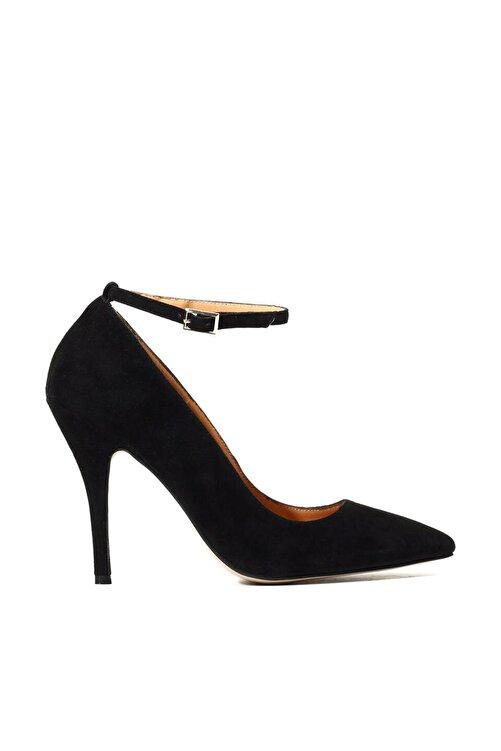 Hotiç Hakiki Deri Siyah Kadın Stiletto 1